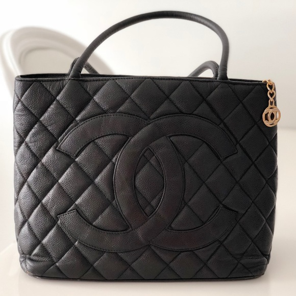 32205fb037ac CHANEL Bags | Caviar Quilted Medallion Tote Black | Poshmark
